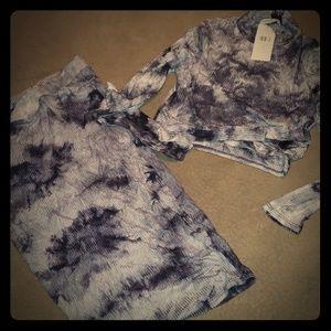 NWT skirt and shirt set